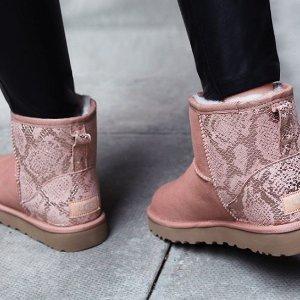 低至4折+额外7.5折 £59收毛毛拖鞋UGG 雪地靴又见好价 经典款、蝴蝶结都参加