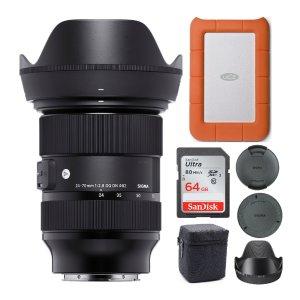 $1099 Free Hard DriveSigma 24-70mm F/2.8 DG DN Art E-Mount Lens Bundle