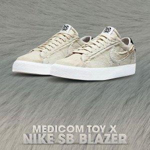 12月26日发售 定价£99.95Blazer Low x MEDICOM TOY合作款球鞋 奶油积木熊 已上架