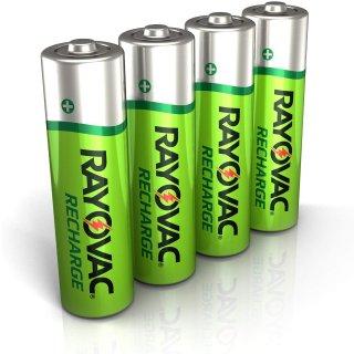 Rayovac 镍氢可充电电池 AA 5号 4只装