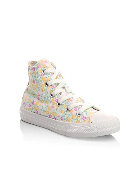 Girl's 高帮帆布鞋