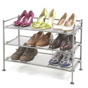 销量冠军 $33.99(原价$53)Seville Classics 3层金属框架鞋架