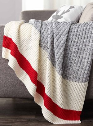 Wool-sock stripe throw 130x150cm   Simons Maison