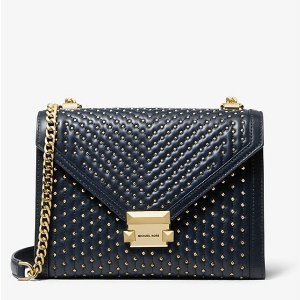 af5064868369 Michael KorsWhitney Large Studded Leather Convertible Shoulder Bag