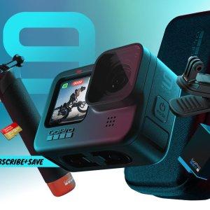 新款$349.98 立省$200GoPro HERO9 Black 5K 运动相机 超值套装 + 1年官方订阅