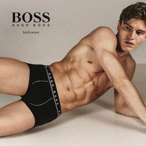 三件套$25 (原价$54) 码全折扣升级:Hugo Boss 男士纯棉内裤 舒适时髦