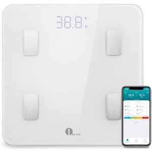 $19.991 by one Bluetooth Body Fat Scale with IOS and Android App Smart Wireless Digital
