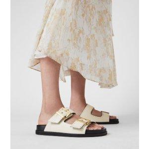 AllSaints皮质凉鞋
