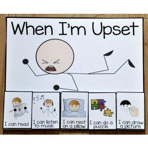 When I'm Upset Card 打印模板