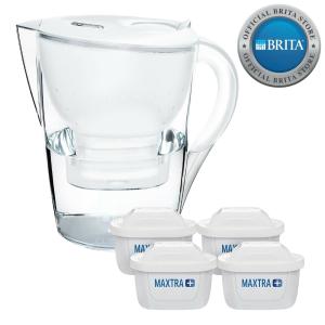 $54(原价$82)Brita Marella 3.5L白色滤水壶附4滤芯套装 超值热卖