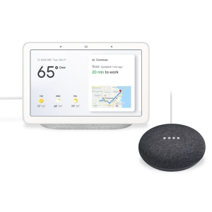 $99 (原价$149)Google Home Hub + Google Home Mini 智能音箱