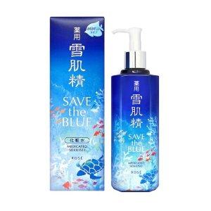 含税包邮到手¥299/瓶雪肌精 化妆水 500ml Save the Blue 限量瓶