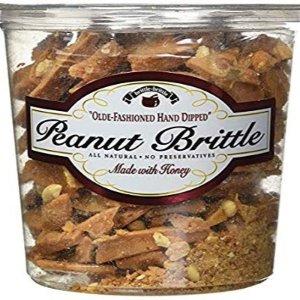 $9.98 花生饱满 焦糖香甜Brittle-Brittle 花生焦糖 42 Oz. 桶装 纯手工制作