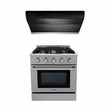 X800 Pro油烟机+LRG3001U烤箱炉灶一体机