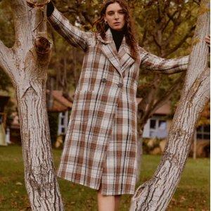 低至4折 百搭毛衣$24Mango Outlet 精选秋冬毛衣、外套等热卖 格纹大衣$99