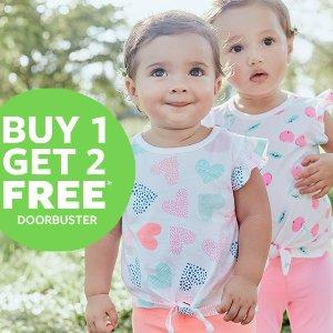 买一件送两件限今天:Carter's官网 儿童T恤、短裤、打底裤开门抢购
