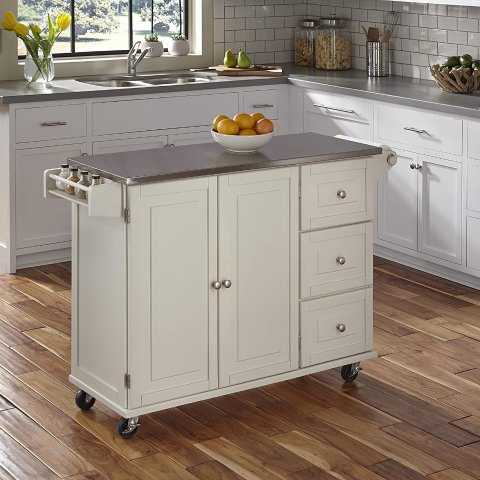 Home Styles Liberty Off-White Kitchen Cart