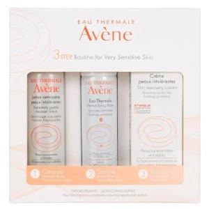 Avene敏感必备!敏感肌套装 含清洁乳 大喷 抗敏面霜