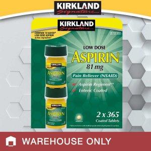 Kirkland Signature Low Dose Aspirin 81 mg., 730 Tablets