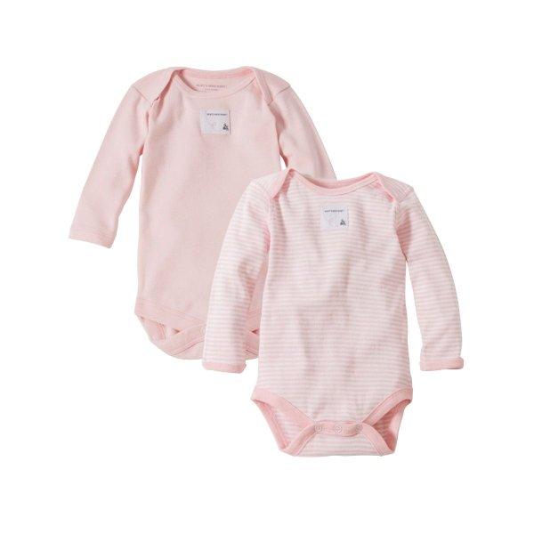 女婴有机棉长袖包臀衫2件装