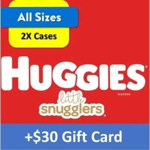 Huggies送$30礼卡纸尿裤超大2箱