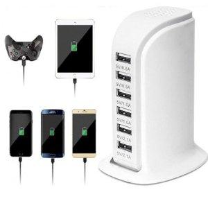 $12.7(原价$21.99)6端口USB通用充电头 全球通用电 智能保护 防止过热 安全易携带