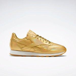 Reebok金色运动鞋