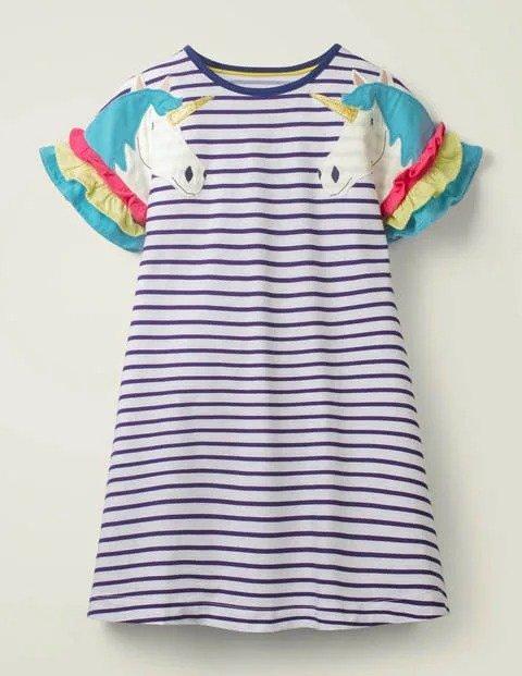 儿童独角兽连衣裙