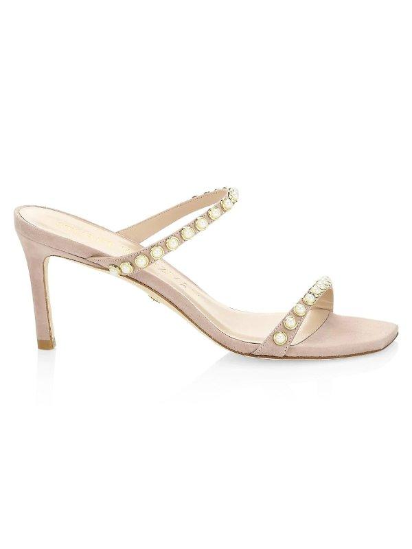 珍珠高跟鞋