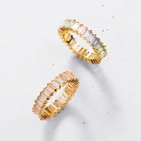 粉彩堆叠戒指