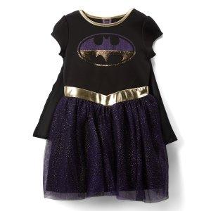 84d86baa932a Jerry LeighBatgirl Black & Purple Sparkle Cape-Accent A-Line Dress - Girls.  $9.99 $29.99