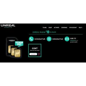 仅需$10每月360天 Unreal通讯计划 无限短线和通话 + 每月2GB 流量