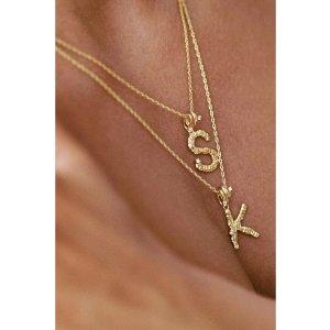 AdornmondeCasper alphabet necklace