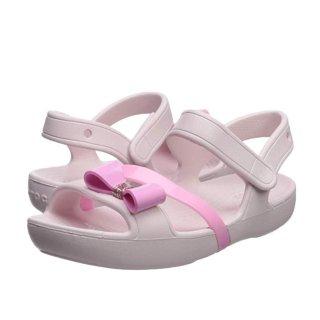 $11.74(原价$24.99)史低价:Crocs 女童凉鞋,粉粉蝴蝶结惹人爱