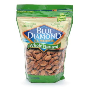 Blue Diamond Almonds Whole Natural 16.0oz