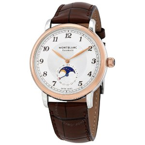 Montblancvia code DMOONFS100Star Legacy Moonphase Automatic Silver Dial Men's Watch 117580