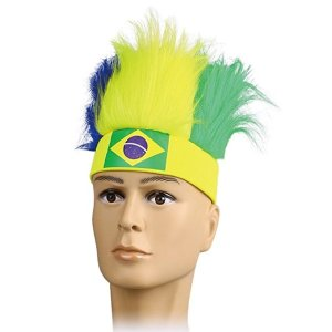 Bornbayb 2018 Russia World Cup Football Fans Wig National Flag Headband Ployester Stretchy Headwear Hat