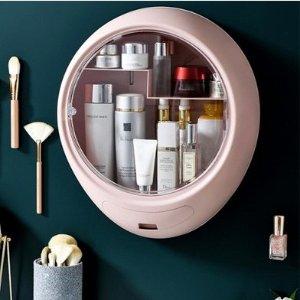 $14.36(原价$39)壁挂式储物收纳架 防水防潮磁吸门 不落灰好整理 浴室/厨房通用