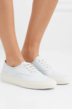 Common Projects | Four Hole nubuck sneakers | NET-A-PORTER.COM