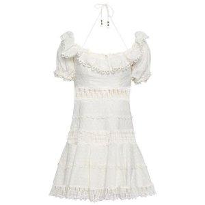 703b83db25 ZimmermannEmbellished linen and cotton-blend mini dress