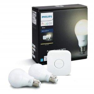 Philips Hue White A19 智能灯泡入门套装