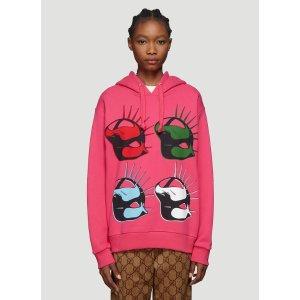 Gucci粉色面具卫衣