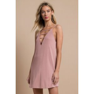 TobiHalsey Plunging Strappy Shift Dress