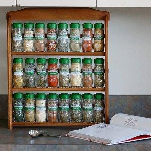 $57.55 Spices IncludedMcCormick Three Tier Wood 24 Piece Organic Spice Rack