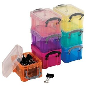 $0.99Really Useful Box 0.14 Liter Snap Lid Storage Bin, Assorted Colors