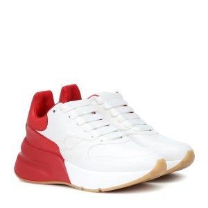 Alexander McQueen红尾小白鞋