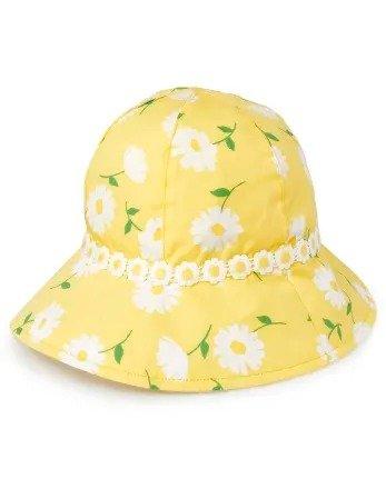 女童印花遮阳帽