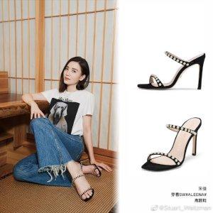 宋佳同款不同色珍珠凉鞋