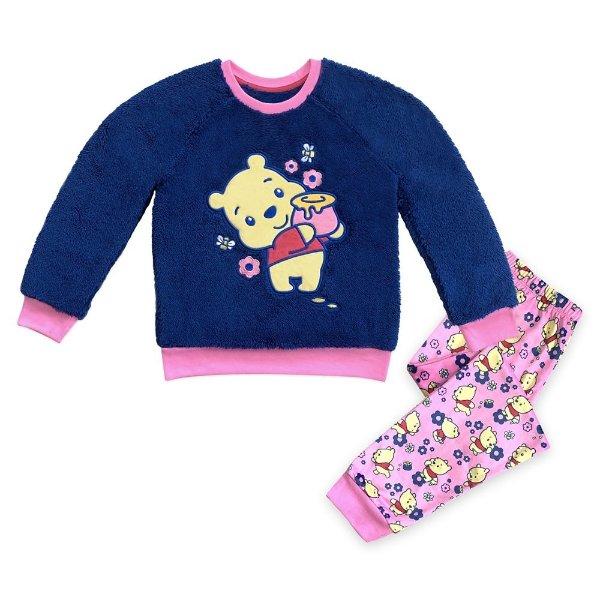 Winnie 女童睡衣裤套装