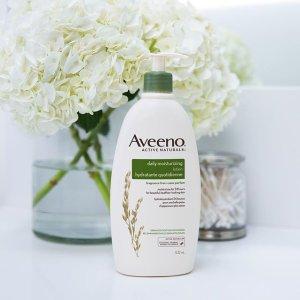 $7.97(原价$9.97)Aveeno 燕麦护润肤身体乳特卖 天然配方 防晒身体乳SPF15